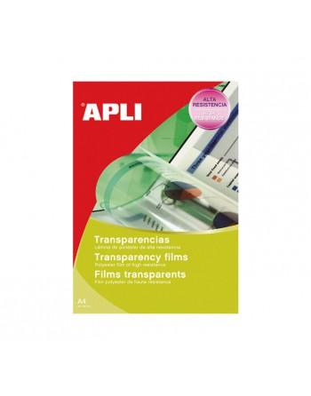 APLI 10 TRANSPARENCIAS A4 AUTOADHESIVO INKJET - 10290