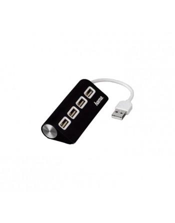 HAMA HUB 4 PUERTOS USB 2.0 NEGRO - 00012177