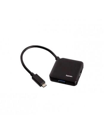 HAMA HUB 4 PUERTOS USB 3.1 TIPO C NEGRO - 00135750