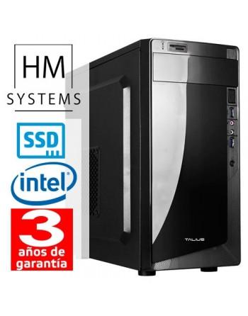 HM-SYSTEMS HM ABREGO C4+ - MINITORRE MT - 8ª GEN - INTEL CORE I3 8100 - 8 GB DDR4 - 240 GB SSD - GRABADORA - LECTOR DE TARJETAS
