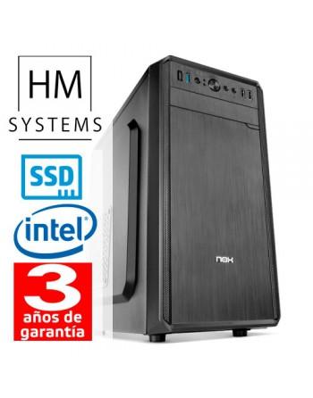 HM-SYSTEMS HM ABREGO C4+ - MINITORRE MT - 8ª GEN - INTEL CORE I3 8100 - 8 GB DDR4 - 480 GB SSD - GRABADORA - LECTOR DE TARJETAS