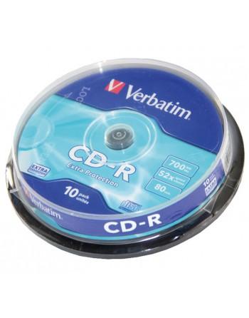 VERBATIM BOBINA 10U CD-R 700MB SPINDLE - 43437