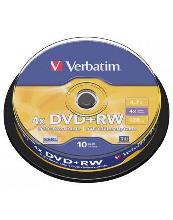 VERBATIM BOBINA 10U DVD RW 4X 4.7GB SERL - 43488