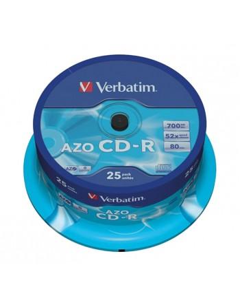 VERBATIM BOBINA 25U CD-R CRYSTAL 80MIN 700MB - 43352