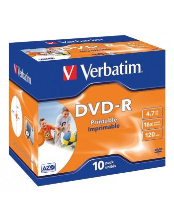 VERBATIM 10U DVD -R 4.7GB 16X IMPRIMIB - 43521