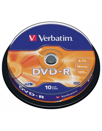 VERBATIM BOBINA 10 DVD-R 16X 4.7GB - 43523