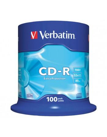 VERBATIM BOBINA 100U CD-R CRYSTAL 700MB 52X - 43411