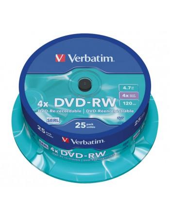 VERBATIM BOBINA 25 DVD-RW SERL 4X 4.7GB - 43639