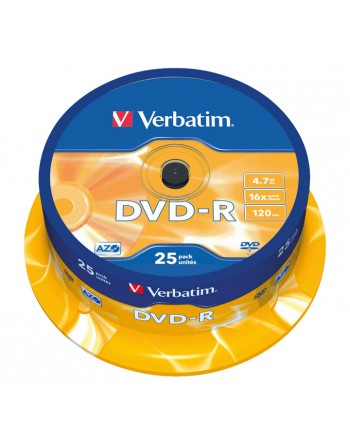 VERBATIM BOBINA 25U DVD-R 16X 4.7GB - 43522