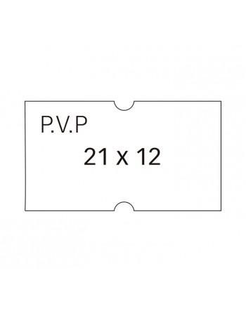 APLI PACK 6 ROLLOS 1000 ETIQUETA 21X12 PVP BLANCO REM. - 101949