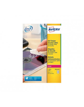 AVERY 20H ETIQUETA 45.7X21.2M ANTI-FRAUDE - L6113-20