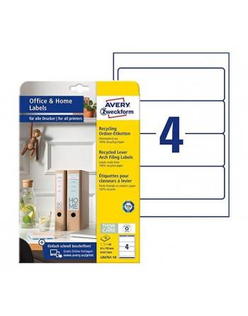 ELBA PACK 10 ETIQUETA AUTOADHESIVA ANCHA AZUL - 100420952