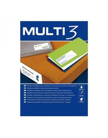 MULTI3 DE 100 HOJAS ETIQUETAS BLANCAS POLIVALENTES 199.6X144.5 - 10503