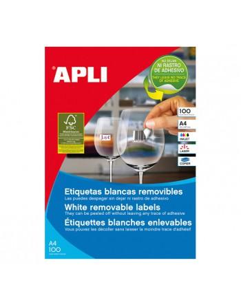 APLI ETIQUETA A4 REMOVIBLE 48.5X16.9 100H 6800U - 3053
