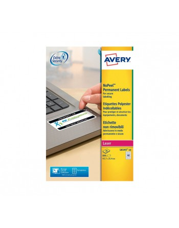 AVERY 20H ETIQUETA 45.7X25.4 NO REMOVIBLE LASER BLANCO - L6145-20