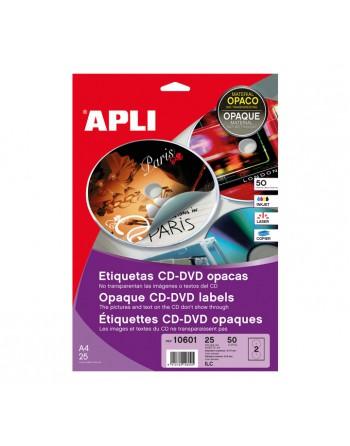 APLI BLISTER 25 HOJAS ETIQUETA CD OPACO DIAMETRO.117 ILC - 10601
