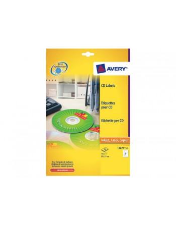 AVERY 100H ETIQUETA CD/DVD DIAM.117 - L7676-100