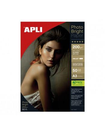 APLI BLISTER 50H PAPEL PHOTOQUALITY BRILLANTE 200G. A3 - 4457