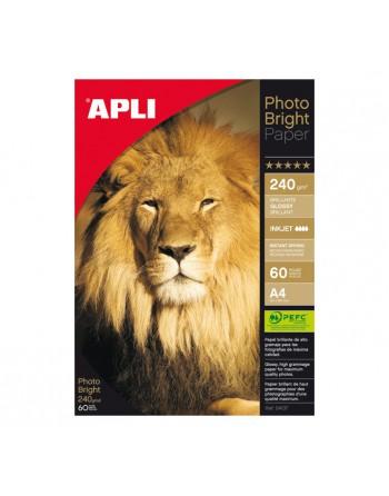APLI Blister 60H PAPEL PHOTOQUALITY 240G A4 - 4137