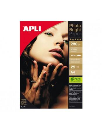 APLI BLISTER 25 HOJAS PAPEL FOTOG.BRIGHT 280GR A4 - 4458