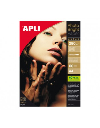 APLI BLISTER 60H PHOTOBRIGHT PRO 280G A4 - 10413