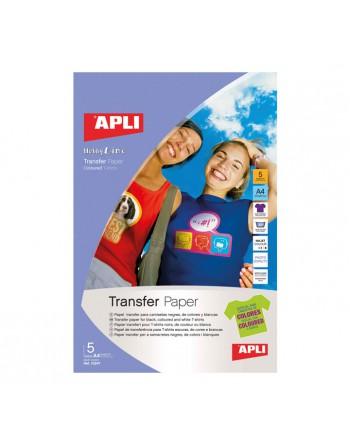 APLI BLISTER 5H PAPEL TRANSFER INKJET EJIDOS OS - 10247