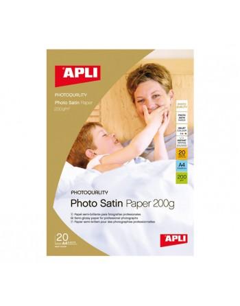 APLI BLISTER 20 HOJAS A4 PAPEL PHOTO SATINADO 200GR - 04453