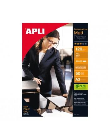 APLI 50H PAPEL MATT QUALITY A3 120GR 4462 - 04462