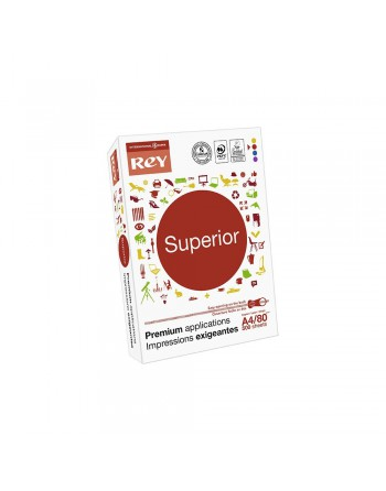 REY PAPEL FOTOCOPIA A4 500 H. 80 GR SUPERIOR DOCUMENT DIN A4 - 5 S - 51-R48030