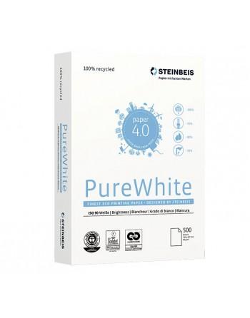 STEINBEIS 5 PAQUETE DE 500H PAPEL PUREWHITE A4 80GR - PURE WHITE 80GR