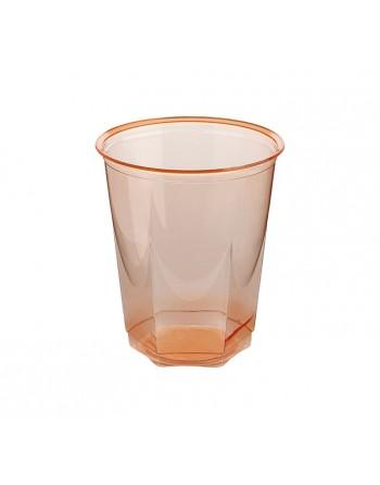 NUPIK BOLSA 10 VASOS GLASS 250CC NARANJA - 2170