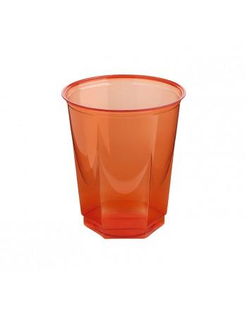 NUPIK BOLSA 10 VASOS GLASS 250CC ROJO - 2112