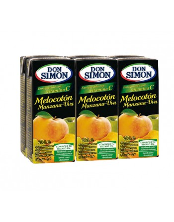 MMC BRICK 6U. ZUMO DON SIMON 200ML SABOR MELOCOTON - DSIMON-MEL