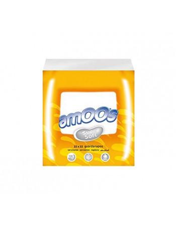 AMOOS PACK 100 SERVILLETAS 2 CAPAS 22X22CM - T622002.2