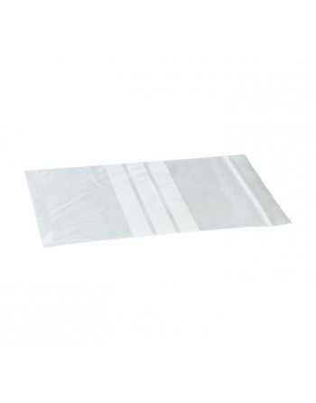 MMC PACK 100 BOLSAS ZIP TRANSPARENTE CON BANDA 40X60MM - 17224060