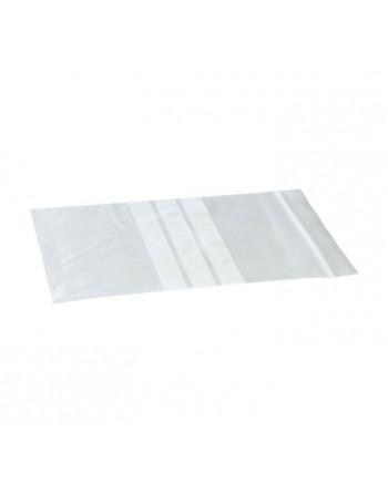MMC PACK 100 BOLSAS ZIP TRANSPARENTE CON BANDA 60X80MM - 17226080