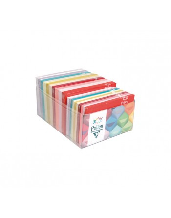 CLAIREFONTAINE 20 PACK SOBRES CL FUNCOLORES SURTIDO C6+TARJ. RUGOSO - 89014C