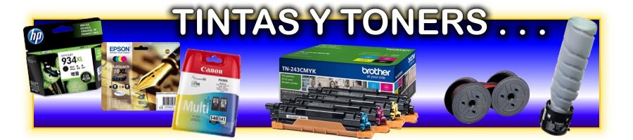 Material informático: tintas, tóners, cintas, tambores y componentes de impresión pera la majoria de equipos del mercado.