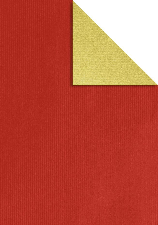 kraft marro doble cara vermell or
